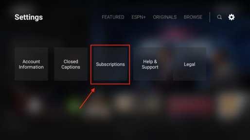 ESPN Subscriptions