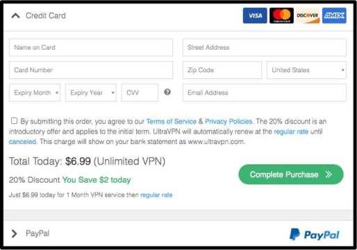 UltraVPN Payment