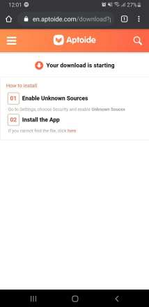 Uknown Sources Aptoide
