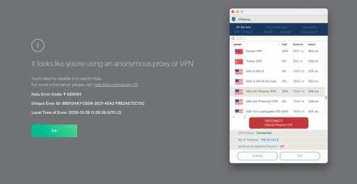 VPNArea Hulu Error
