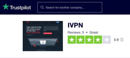 Trustpilot IVPN