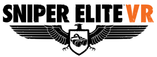 This image has an empty alt attribute; its file name is Sniper-Elite-VR-logo.png