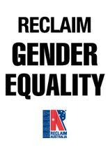 Reclaim Australia Gender