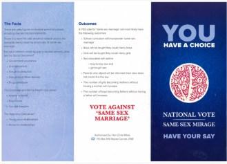 Tassie Anti-gay Flyer Page 1