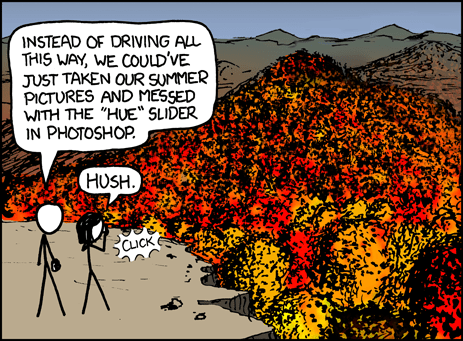 """Fall Foliage"" by xkcd.com"