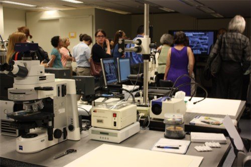 photograph of librarians touring Library of Congress preservation lab