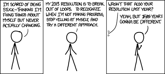 """resolution"" by xkcd"