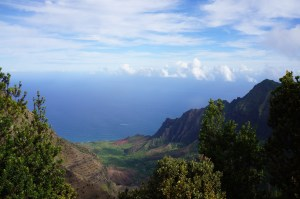 Looking at Kalalau Valley