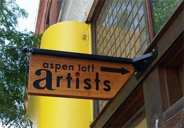 Sign for aspen loft artists