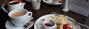 photograph of tea and scones