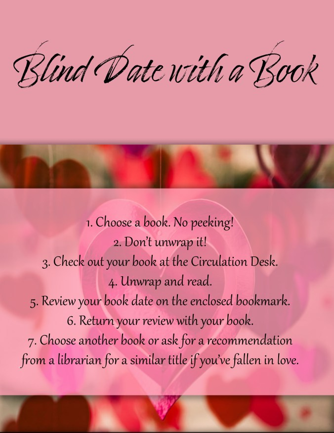 flyer for Blind Date with a Book event