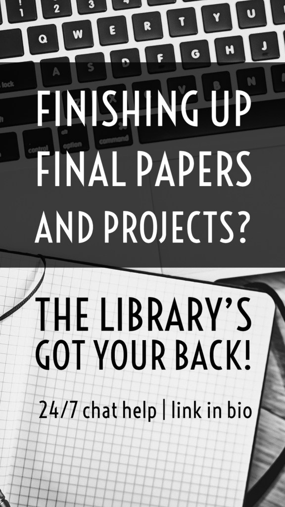 example of Instagram story for library helping with papers and projects