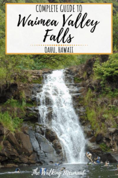 waimea valley falls oahu hawaii north shore overlay