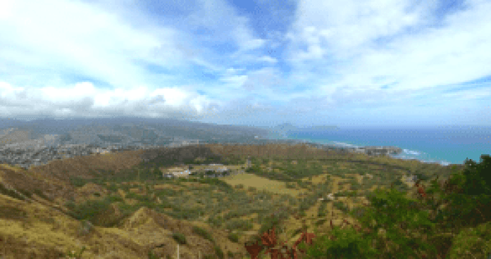 Diamond Head Crater Trail, Honolulu, Hawaii