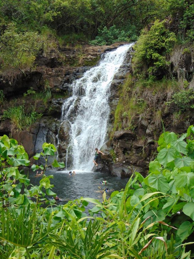 Waimea Falls in Waimea, Hawaii in Oahu.