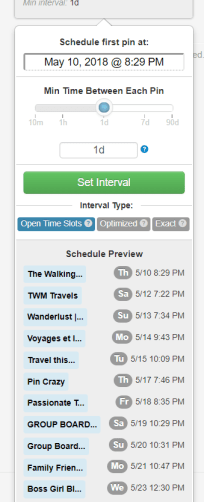 set interval on tailwind app