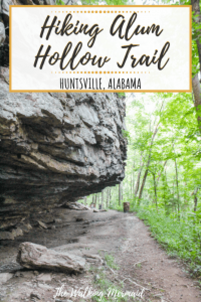 hiking alum hollow trial huntsville alabama overlay