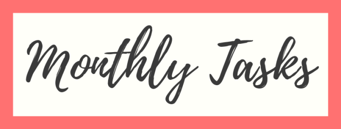 monthly blogging tasks
