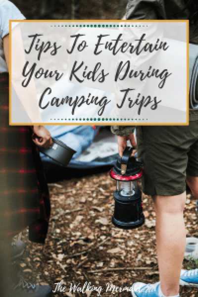 kids camping tips with overlay text