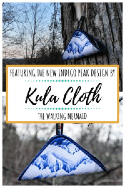 Kula Cloth Indigo Peaks Design overlay pin image