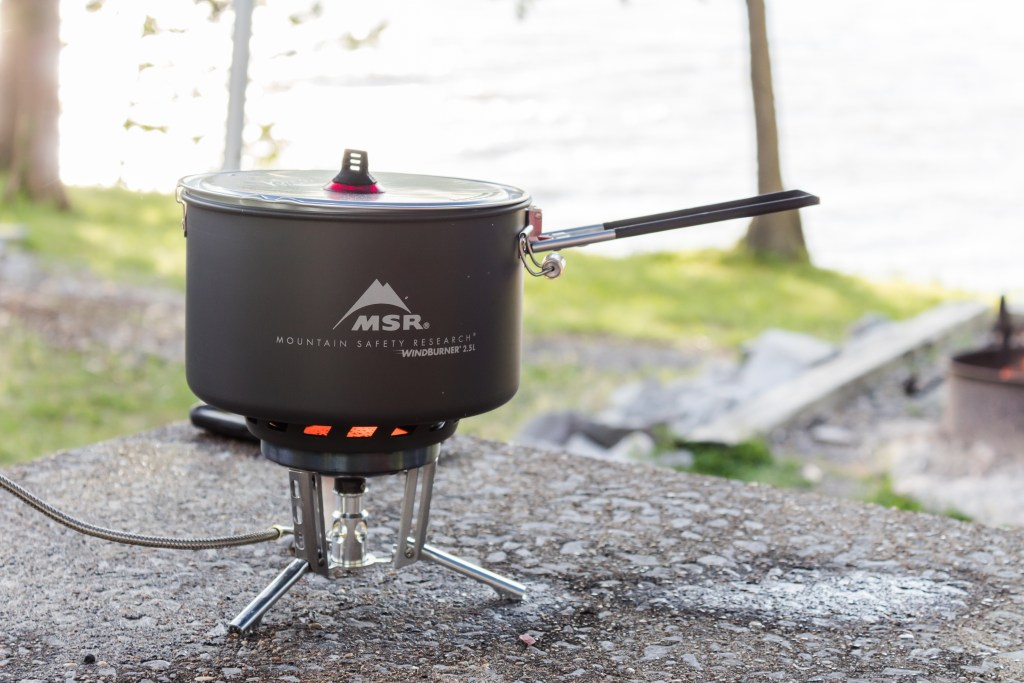 msr gear wind burner sauce pot stove system