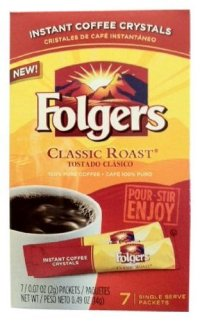 folgers instant coffee stick packets