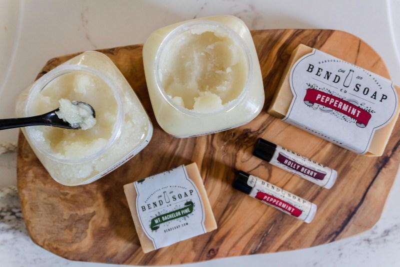 bend soap sugar scrub goat milk soap lip butters christmas seasonal scents