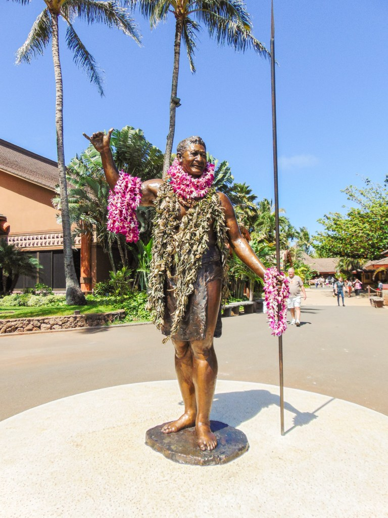 Statue at The Polynesian Cultural Center in Oahu, Hawaii.