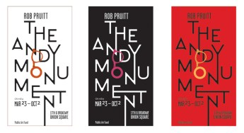 """Rob Pruitt, """"The Andy Monument"""" (2011). Photo courtesy of the Public Art Fund."""