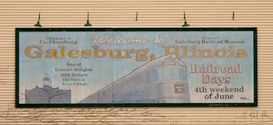 H. Michael Miley, Galesburg Rail Sign