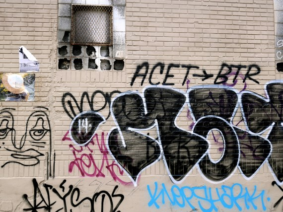 Graffiti Tagging on Exposed Brick