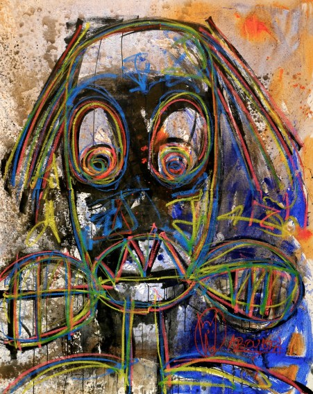 In kinetically painted canvasses redolent of Jean-Michel Basquiat and graffiti art, Aboudia Abdoulaye Diarrassouba depicts fevered landscapes and street scenes populated by child-like figures.