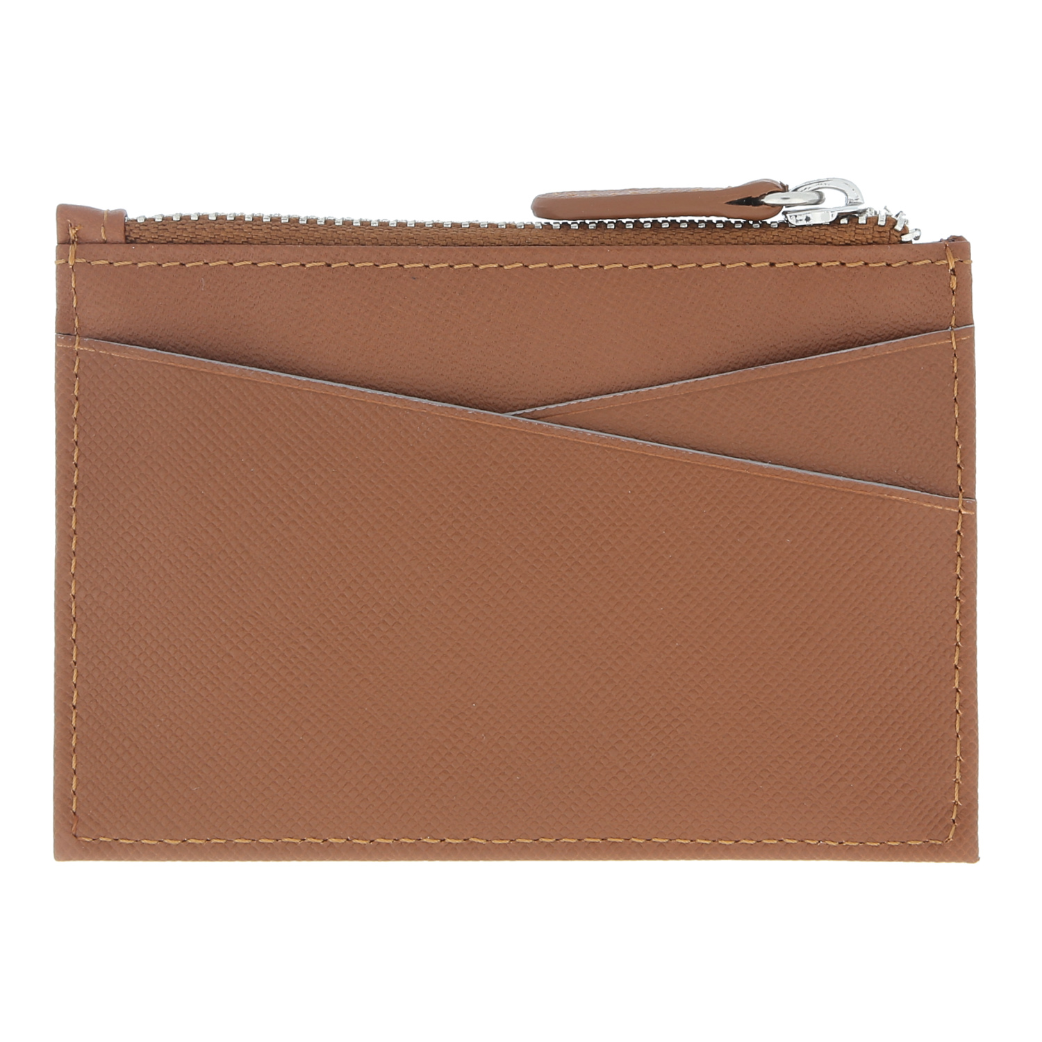 660719b74829 Buy Crossing Saffiano Card Case With Zip Pocket - Symbolism - Brown ...