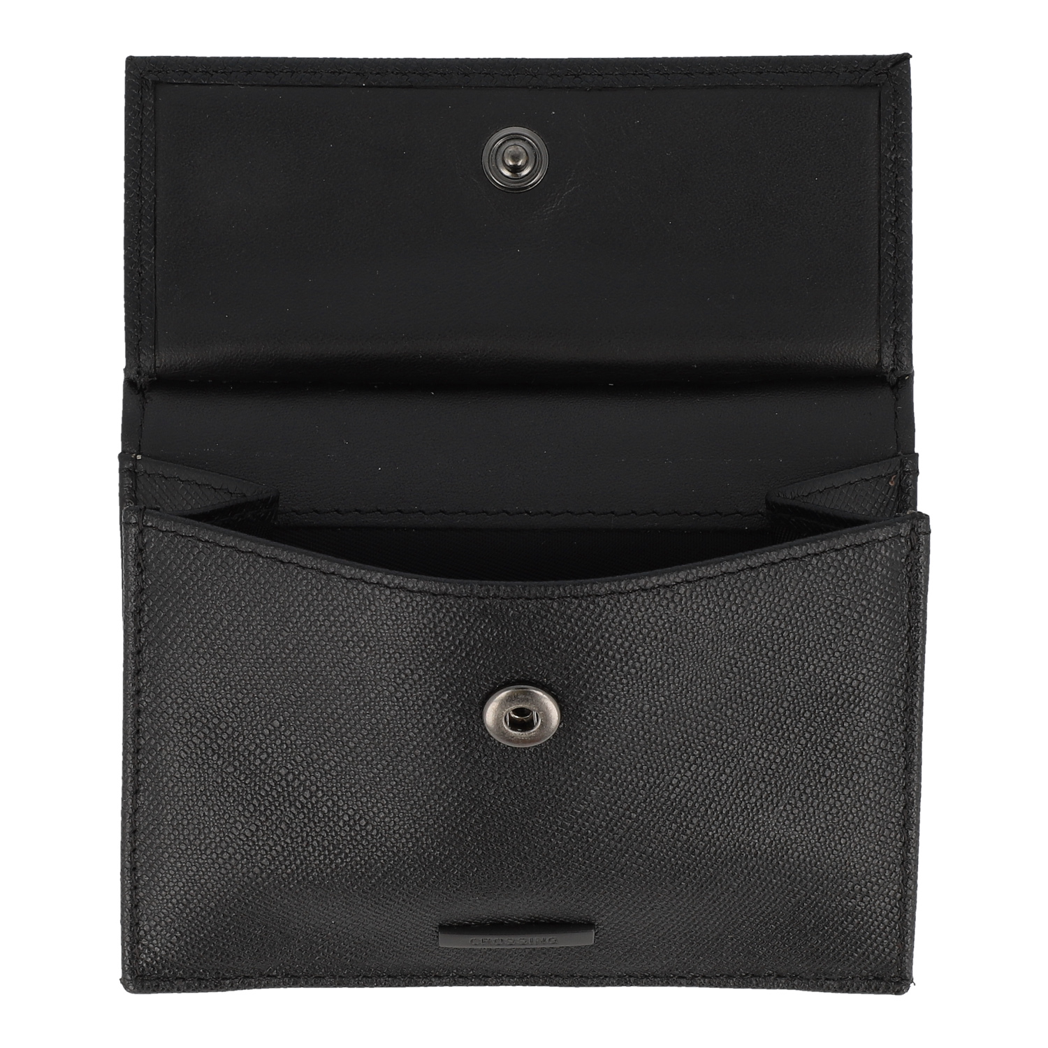 f209c9e34d15 Buy Crossing Saffiano Coin Pouch With Card Case - Black in Singapore &  Malaysia - The Wallet Shop
