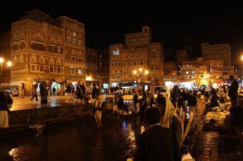sanaa old city night