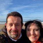 Me and my wife at Woolacombe beach
