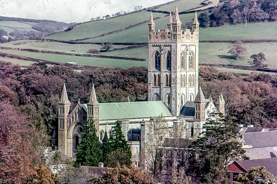 An old shot of Buckfast abbey by David kemp