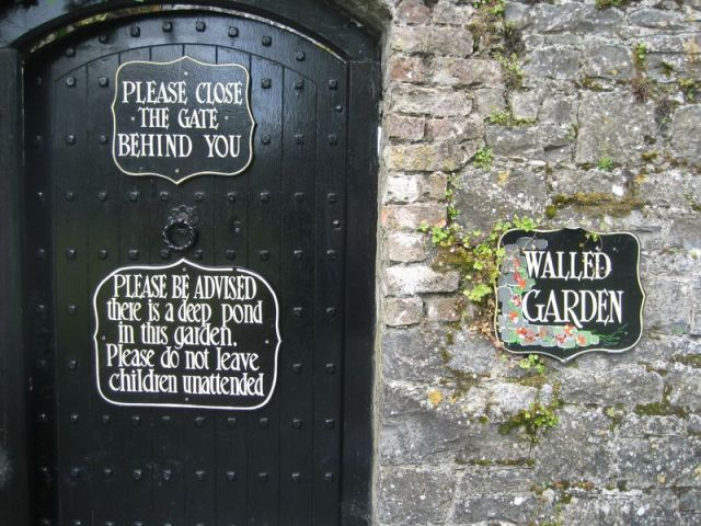 Gate to walled garden at Dromoland