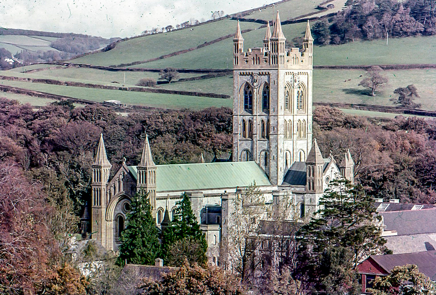 Buckfast Abbey in the 1960s