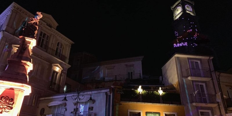videomapping torre dell'orologio