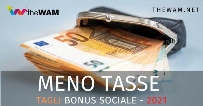 Come pagare meno tasse bonus sociale 2021
