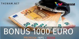 Bonus 1000 euro: arriva la proroga dell'Inps.