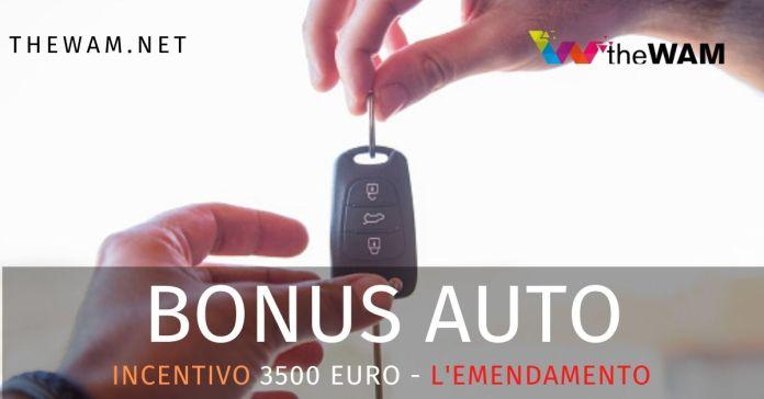 Bonus auto 3500 euro per la riqualificazione elettrica delle macchine