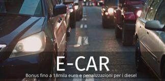 Bonus auto elettriche fino a 18mila euro. In arrivo penalizzazioni per diesel