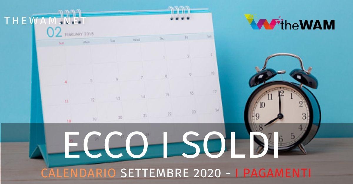 Settembre 2020: calendario pagamenti Naspi, Rdc, Rem e tutti i bonus