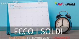 Ecco il calendario dei pagamenti dei bonus previsti a settembre 2020. Renzi, Rem, Rdc e Naspi