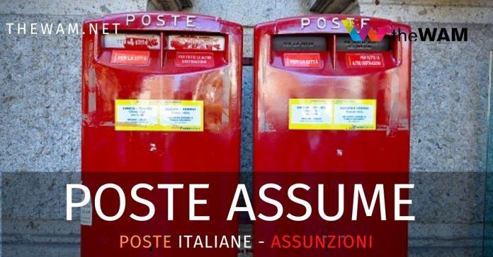 Offerte di lavoro per assunzioni a Poste Italia per settembre 2020