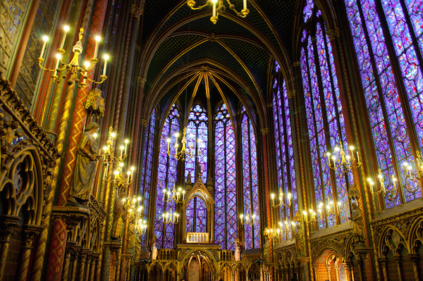 Sainte Chapelle stained glass windows Paris