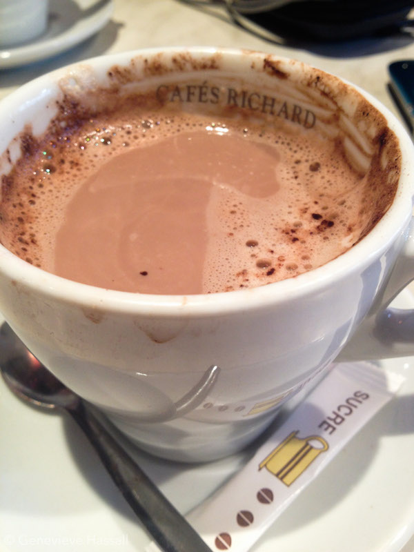 Hot Chocolate at Cafes Richard in Montmartre Paris