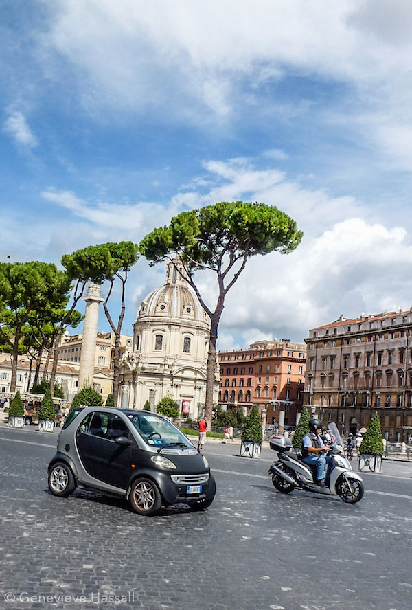 Tiny car in Rome Italy